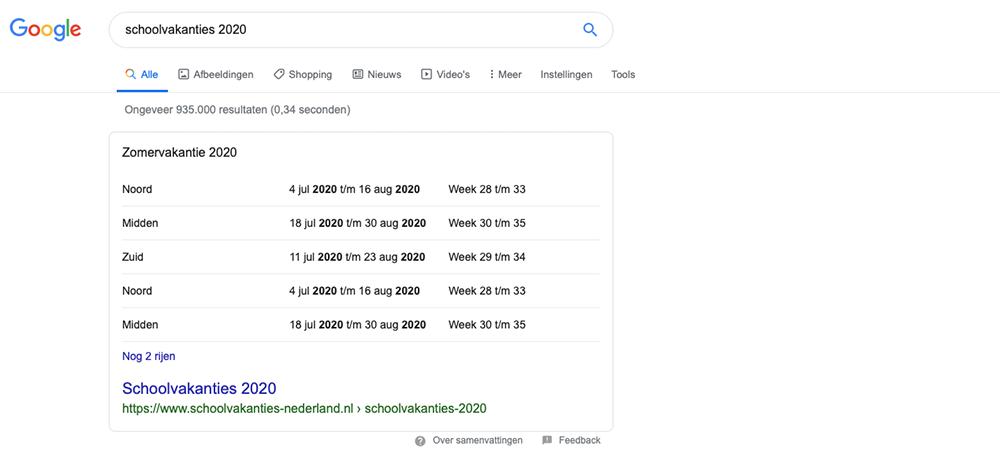 Zero Click search Google