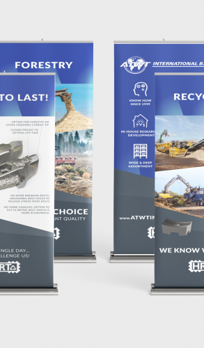ATWT Europe BV roll-up banners