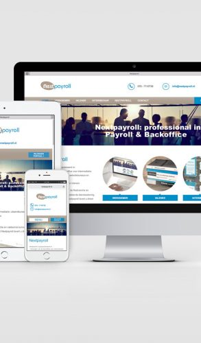 Responsive Wordpress website Next Payroll