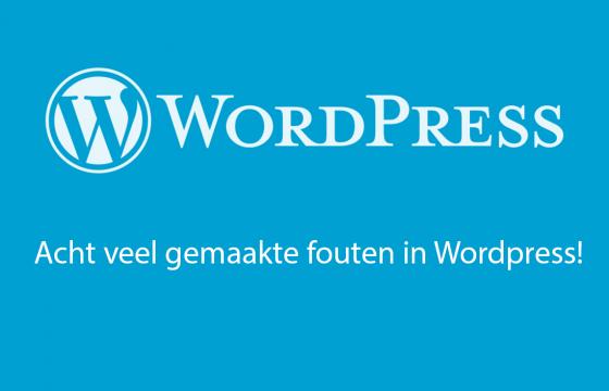 WordPress CMS: acht veel gemaakte fouten!